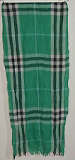 NWT BURBERRY UNISEX LARGE CRINKLED CASHMERE WOOL GIANT CHECK SCARF WRAP