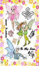 Fairy prince and princesse ~ clear stamps set vintage FLONZ 213 rubber acrylic