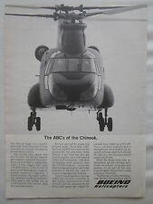 4/1967 PUB BOEING HELICOPTER VERTOL CH-47A CHINOOK US ARMY ORIGINAL AD