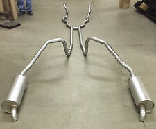 1966 FORD THUNDERBIRD DUAL EXHAUST, ALUMINIZED WITHOUT RESONATORS, 390 ENGINES