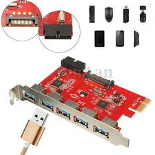 5 Port PCI-E PCI Express to USB 3.0 HUB Expansion Card SATA Adapter for WIN 10