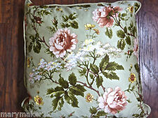 NEW-$110 RALPH LAUREN YORKSHIRE ROSE DECORATIVE BED PILLOW w GOOSE FEATHER FILL