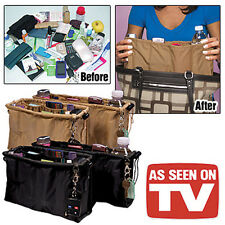 New Kangaroo Keeper 2 AS SEEN ON TV Purse Handbag Multi Bag Organizer Black