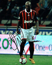 Clarence SEEDORF SIGNED Autograph 10x8 Photo AFTAL COA AC MILAN LEGEND Rare