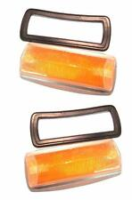 Front Turn Signal Lens and Seals Pair VW Kombi Bus Low-Light left and Right