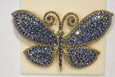 KIRKS FOLLY DEVINE SPARKLES BUTTERFLY PIN NWT