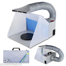 Airbrush Paint Spray Booth Kit Exhaust Filter Odor Extractor Set- artwork crafts