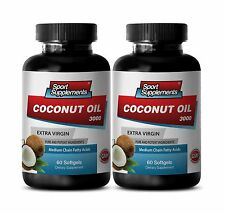 Lose Weight Fast - Coconut Oil 3000mg - Fatty Acids, Diet Super-Food Capsules 2B