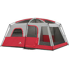 Large Family Camping Tent 10 Person 2 Room Cabin Outdoor Equipment Hiking Gear