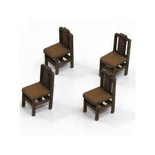 4GROUND - 28mm - 28S-FAB-011L - Square back (B) chair from the 1700s in light wo