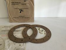 Morgan, 1935 to 1940, Pair of Clutch Linings & Rivets, NOS.