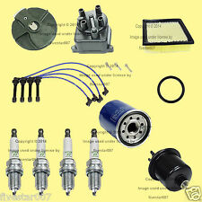 Tune Up Kit_Fuel_Air_Filter_NGK Spark Plugs_Wire Set_Cap_Rotor_for Honda Civic