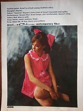 1964 Vintage Womens Kayser Arnel Red Lingerie Luxuria Fabric Ad