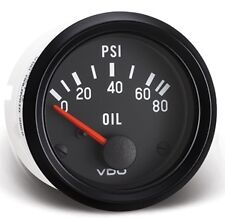 "VDO 80 PSI Oil Pressure Gauge Model 350-040   2 1/16"" for Sand Rail VW"