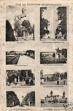 17223/ Foto AK, Gruss aus Hannover-Herrenhausen, 8-Ansichten, 1918