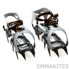 HOT 12 Points Steel Crampons Up to 48 EU Unisex for Ice Snow Climbing Walking