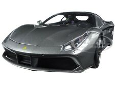 FERRARI 488 GTB CHARCOAL GRAY SIGNATURE SERIES 1:18 MODEL CAR BBURAGO 16905