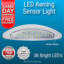 Caravan Awning Light Motion Sensor LED Waterproof Exterior Lamp 36  Bright LEDs