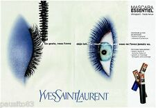 PUBLICITE ADVERTISING 115  1997  YVES SAINT LAURENT maquillage  MASCARA (2p)