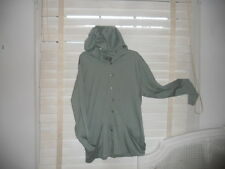 NWOT Lilith France ~ Art to Wear ~ Lagenlook ~ Green Buttonfront Hoodie ~ LL