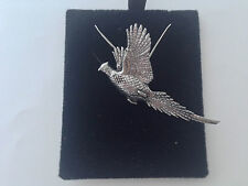 B24 Rising Pheasant on a 925 sterling silver Necklace Handmade 18 inch chain