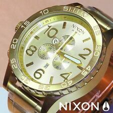 NEW NIXON Watch 51-30 Chrono ALL GOLD,5130, ,A083502,MEN GIFT!SALE FAST SHIP!