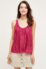 Anthropologie Raspberry Tank Top Hippie Pink Boho Chic  BNWT Size 14