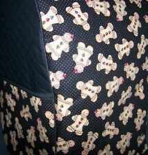 Gingerbread Men on Black Quilted Ffabric Cover KitchenAid Mixer NEW