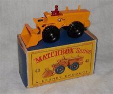 1960s.matchbox LESNEY.43 Aveling Barford Tractor shovel.all original.MINT IN BOX