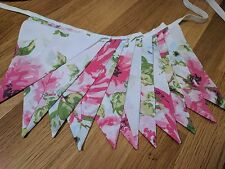 Bunting flags or banner for child's bedroom, garden, birthday shabby chic
