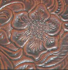122sf 4.5 oz.Exquisite Brown Shaded  Western Floral Hide Leather Skin u82n opqr