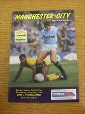 05/10/1988 Manchester City v Portsmouth  (Light Crease)