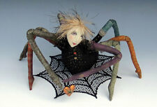 """*NEW* """"ALONG CAME A SPIDER"""" CLOTH ART DOLL E-PATTERN TUTORIAL BY CINDEE MOYER"""
