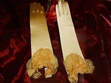 superbes gants dorés  dentelle perles   soirée ,mariage ,sorties théatre