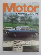 MOTOR No. 3734 Vtg 1974 England International Car Magazine RENAULT 16TX Cover