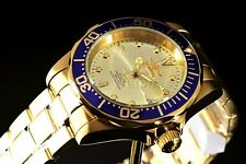 Automatic Invicta Pro Diver Gold Plated Champagne Blue Bzl Scalloped Edge Watch