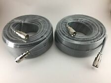 TWO 75FT RG-8x COAX COAXIAL CABLE HAND SOLDER w/PL-259 CB HAM RADIO RG8 NEW