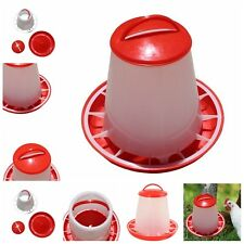 1.5kg Red Plastic Feeder Chicken Hen Poultry Drinker Waterer with Lid & Handlewt
