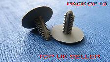 10 X VOLVO S40 GREY TRIM PANEL FIR TREE/SPRUCE BUTTON CLIPS