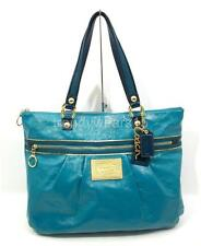 FAST SHIP! EUC COACH 15791 POPPY PATENT LEATHER GLAM TOTE MERMAID TEAL BLUE