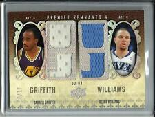 Darrell Griffith-Deron Williams 08/09 UD Premier Game Used Jersey #06/10