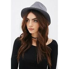 FOREVER 21 Women's Faux Suede Band Wool Fedora(Grey, US L/EUR L)