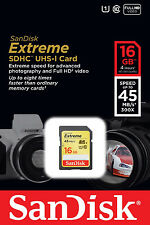 Sandisk 16G extreme class 10 SDHC SD card for Nikon D3300 L830 S6800 S5300 S3600
