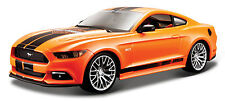 FORD MUSTANG 2015 1/24 Die Cast Model Car HARLEY DAVIDSON Metal Models Orange