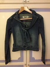 Authentic Moschino Perfectly Tailored Denim Jacket, size IT40 or UK8 - VGC