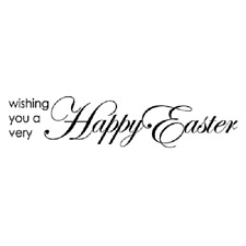 PENNY BLACK RUBBER STAMPS A VERY HAPPY EASTER NEW wood  STAMP