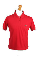 "Lacoste Vintage Casual Men Polo Shirt Red Chest Size 42"" - PT0373"