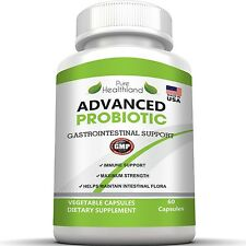 Non GMO Probiotic Capsules Over 5 Billion Essential Live Cultures