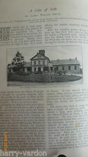 Salt Mines City Wieliczka Hungary Old Victorian Antique 1898 Illustrated Article