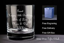 Personalised 10oz Whisky Glass Birthday Gift 18th 21st 30th 40th 50th 60th 70th